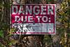 Sager Conservation Area - danger sign just past fence