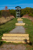 Sager Conservation Area - lookout tower and final steps to it