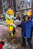 Belleville Ontario Santa Claus Parade 2018 November 18. Denise Lantz meets Sparky the fire dog.