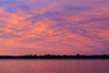 Purple sky and water looking south across the Bay of Quinte.