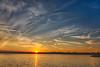 Sunset over Belleville view from Rednersville HDR efx soft.