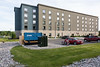 Back of Town Suites hotel next to site of Shorelines Casino Belleville.