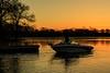 Going fishing at sunrise.