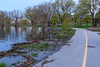 Path along the Bay of Quinte at West Zwicks Park. High water.