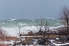 Wellington Rotary Beach on Lake Ontario with high winds.