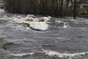 turbulent water below Lott Dam.