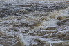 Turbulent water below Lott Dam