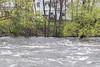 High water down from Lott Dam