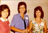 Kaori Watanabe, Sharon Painter Saccone, Karen Magers at the 20th Year reunion.