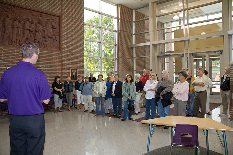 Matt Blomenkamp gives us the tour of the current building, much much bigger than the one wing we attended.