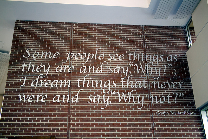 We didn't have these sayings on the walls.  Maybe they hadn't been said yet?