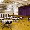 Our old gym, lunch room and stage.