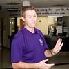 Athletic director Matt Blomenkamp, working on a Saturday.