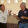 Jim Blackburn and Doug Conlan.  Jim took classmates on tours of Offutt.  Doug served as our Emcee at the banquet.