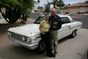 Pam and Bob and their fun Ford Fairlane.