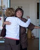 Kathy greets Vicki Timmins Morgan after 45+ years.