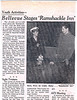 Jim Butts and Bob Mahar star in the Ramshakle Inn in BHS's new Little Theater.  Cast members also included Steve Lawrence, Patty Hinds, Bonnie Horey, Lorriane Martinson, Linda Snavely.  From the Evening World Herald, Friday, Nov. 9, 1962