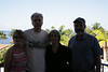 Janel Osborn Salmen, Fred Salmen, Susan Daniel, Gary Beanland with his new Hawaii cap.