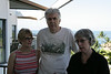 Janel, Fred, Susan.  Kona Coast in the background.
