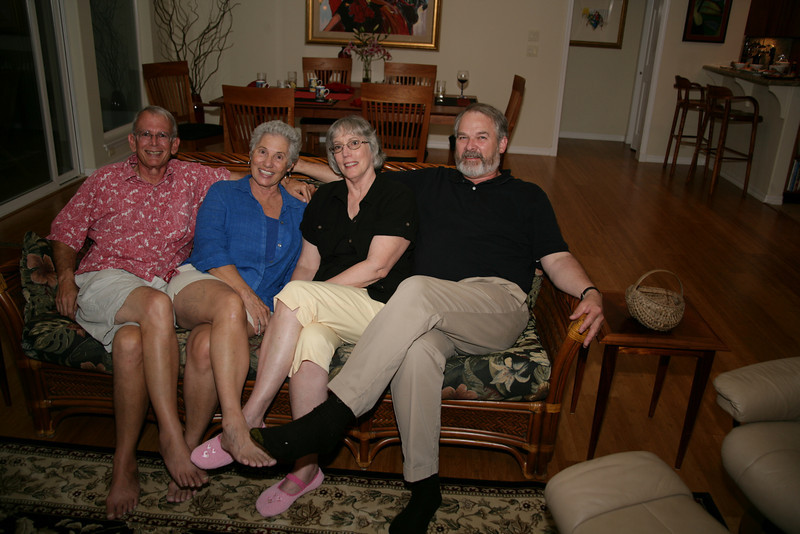 Kurt Frazier, Mary Sanderson Frazier, Susan Daniel, Gary Beanland.  Guess which ones live in Hawaii and which ones are visitors.