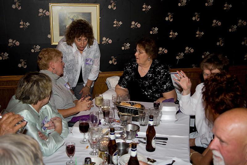 Karin Federof Brioch, Gloria Anson McCaghy, Margaret Grover Chambers.  Foreground right: Duane Menke