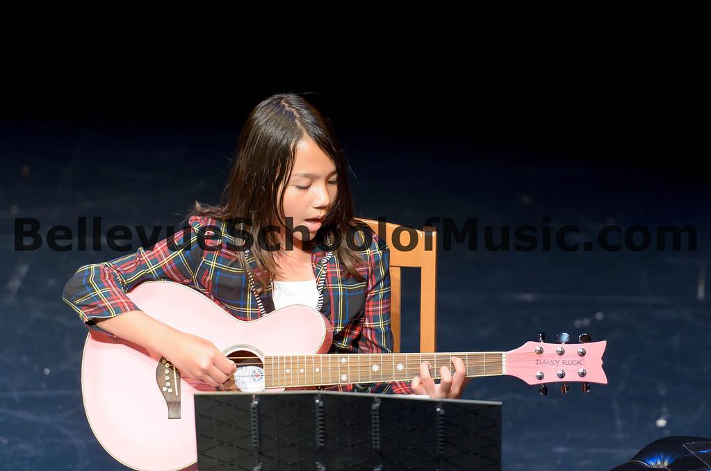 Guitar Student Bellevue School of Music Spring Recital