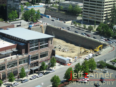 Bellevue Towers - Construction of 2 condo towers 42 & 43 stories in Downtown Bellevue.10608 NE 4th St - at the corner of 106th Ave & NE 4th