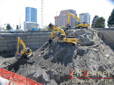 Ten20 Tower - Also referred to as Hanover 1020 Tower, 20 story apartment construction site in Downtown Bellevue.1020 108th Ave NE - at the corner of 108th & NE 10th