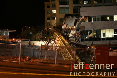 Towe Crane Collapse / Accident in Bellevue, Washington at the Tower 333 (Expedia Tower/Hines Tower) construction site.