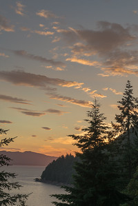 Looking west from Chuckanut Dr