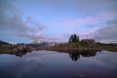 Huntoon Trail, Mt Baker. Looking east at Mt Shucksan at twilight.