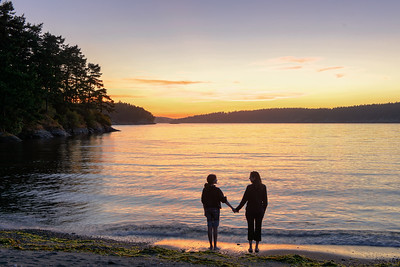 Susie and Arianna at MacKay Harbor, Lopez Island