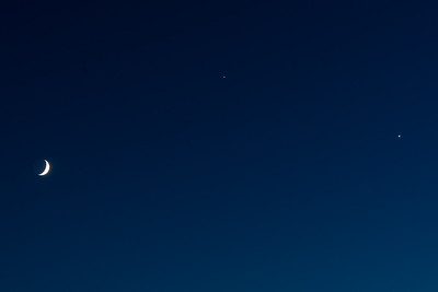 Conjunction of Jupiter, Venus, and Moon