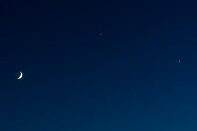 Conjunction of Jupiter, Venus, and Moon