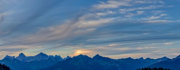 Cascade Range twilight
