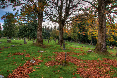 cemetery-grave-stones-fall-leaves