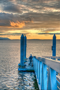 pier-man-sunset