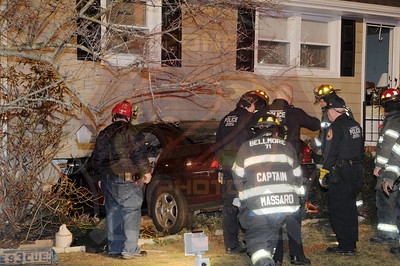 Bellmore F.D. MVA w/ Car Into House and Entrapment 2621 St. Marks Ave. 4/7/13