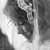 Bride in prayer.