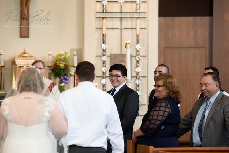 Reaction to bride