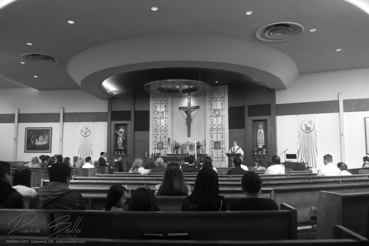 Wedding Ceremony at Christ the King Catholic Church in Seattle, WA