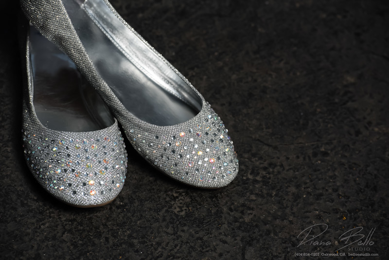Detail shots of the bridal shoes