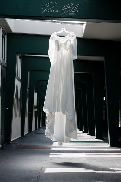 Wedding Dress at Christ the King School in Seattle, WA