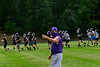 KRISTOPHER RADDER — BRATTLEBORO REFORMER<br /> Bellows Falls' football coach Bob Lockerby runs a practice with his team on Thursday, Sept. 17, 2020.