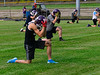 KRISTOPHER RADDER — BRATTLEBORO REFORMER<br /> Players from the Bellows Falls football team run through different plays during practice on Thursday, Sept. 17, 2020.
