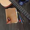 Guitar writing book shoot