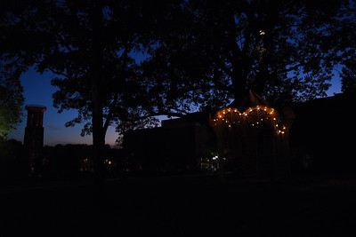 Campus at night