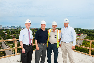 Wedgewood Academic Center Topping Out : Construction Crews