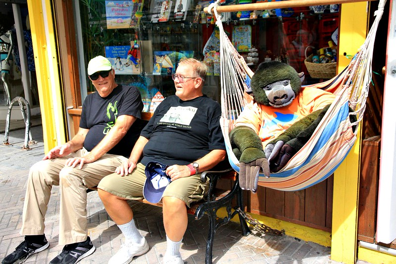 Philipsburg, St Maarten--Big Al..Frankie D and a friendly relative