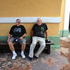 Frankie D and Big Al in El Morro Fort